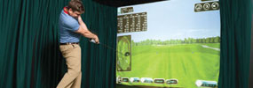 Use the latest in golf technology -see your ball flight or your golf swing!